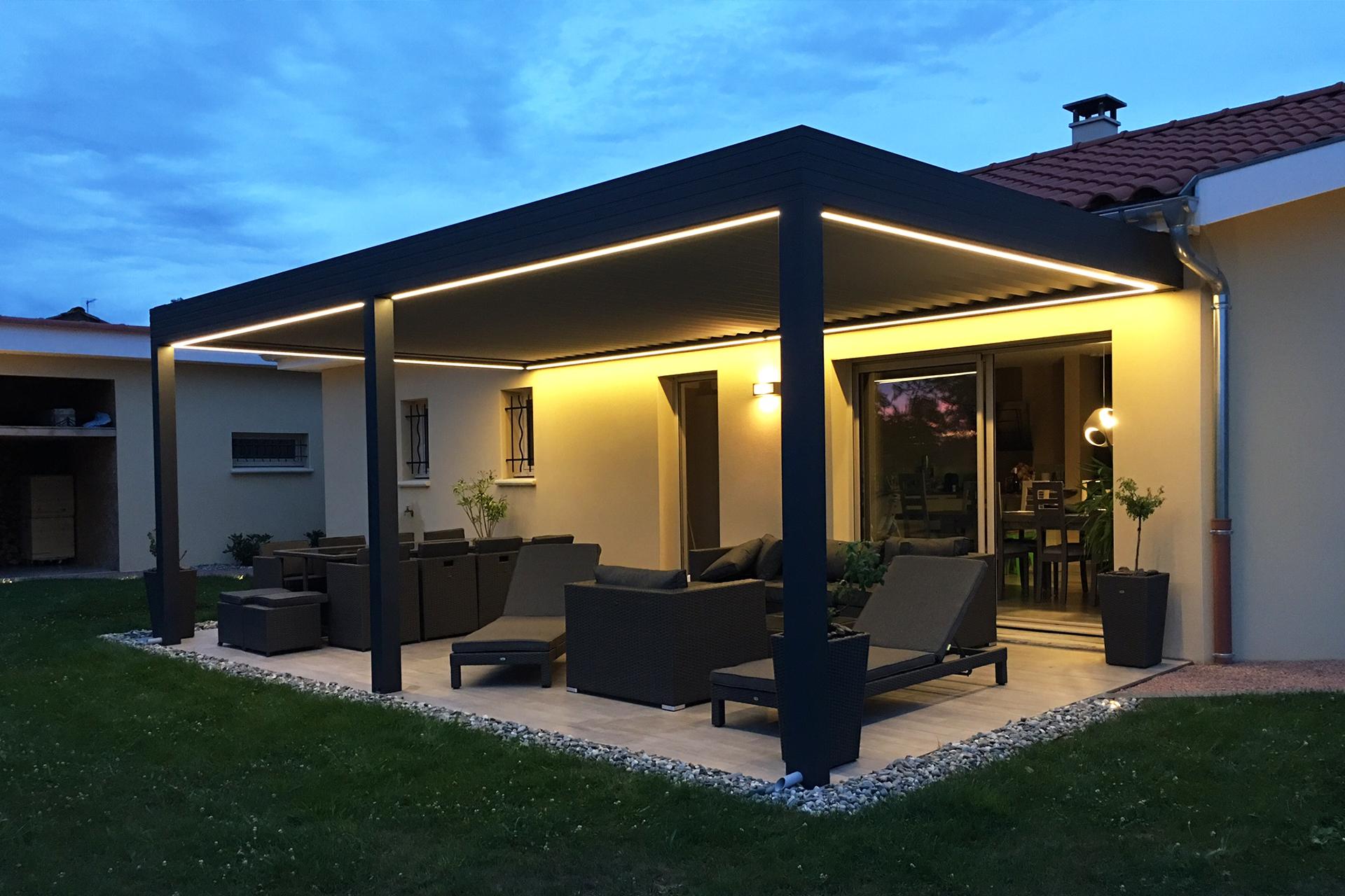 Vente installation et cr ation de pergolas alu et brise soleil b ziers - Mobilier de veranda ...